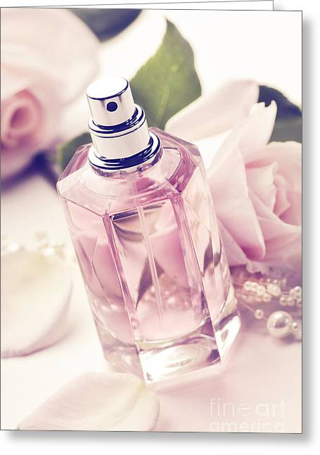 Perfumeries Greeting Cards - Parume Bottle Greeting Card by Jelena Jovanovic
