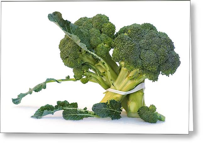 Broccoli Greeting Cards - Pas de Trois Greeting Card by Nikolyn McDonald