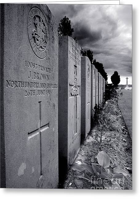 Ypres Greeting Cards - Paschendale War Graves Greeting Card by Colin Woods