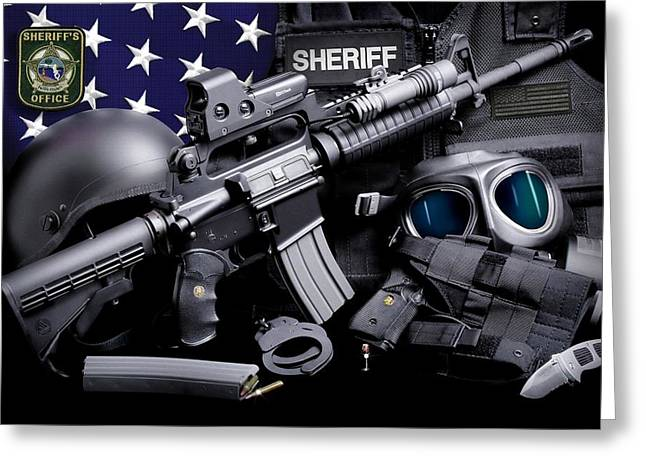 Pasco County Greeting Cards - Pasco Sheriff Tactical Greeting Card by Gary Yost