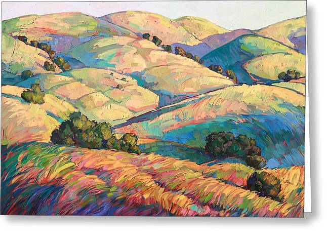 Diptych Greeting Cards - Pasoscapes Diptych Left Panel Greeting Card by Erin Hanson