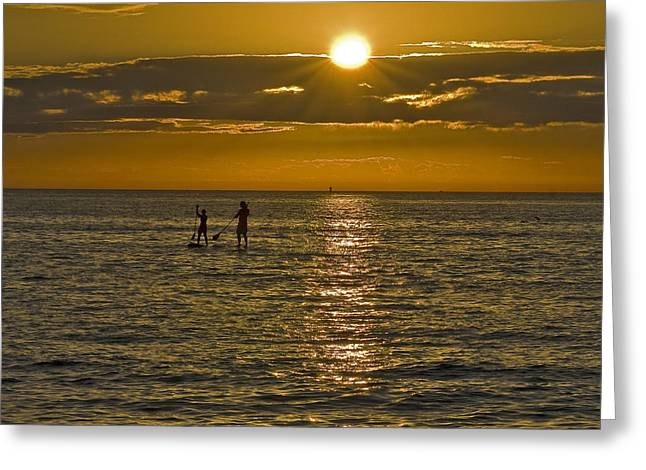Pass a Grille Sunset Greeting Card by Moelyn Photos