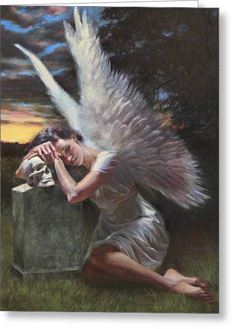 Angelic Greeting Cards - Passage Greeting Card by Anna Rose Bain