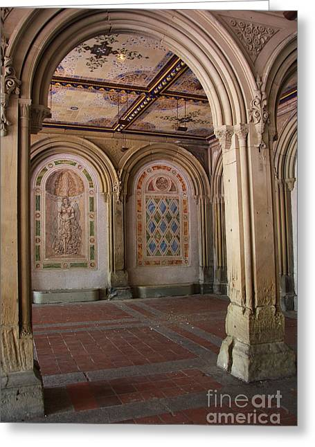 Passage Bethesda Terrace Nyc Greeting Card by Christiane Schulze Art And Photography