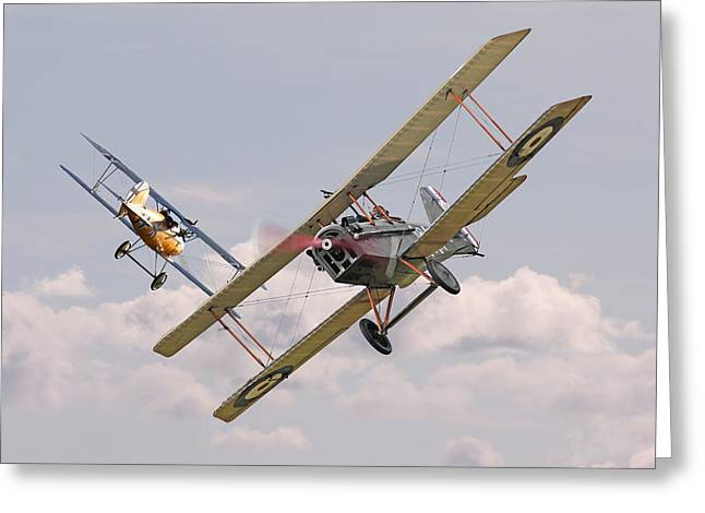 Triplane Greeting Cards - Passage of Arms Greeting Card by Pat Speirs