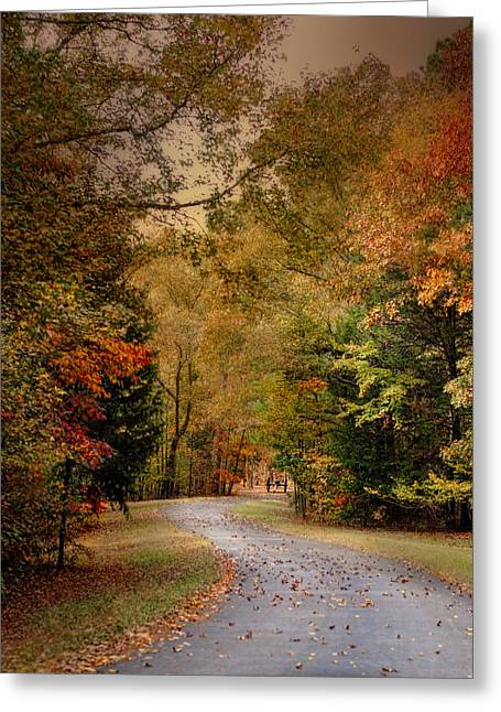 Fall Scenes Greeting Cards - Passage of Time - Autumn Landscape Greeting Card by Jai Johnson