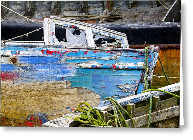 Fishing Boats Greeting Cards - Passage of Time Greeting Card by Laura Tucker