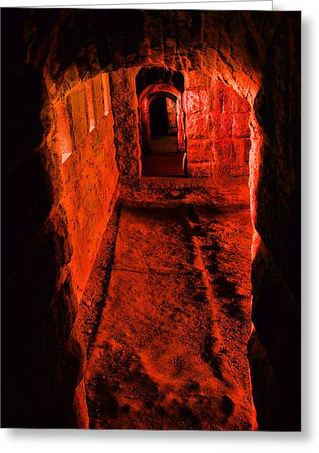 Dungeons Greeting Cards - Passage To Hell Greeting Card by Karol  Livote