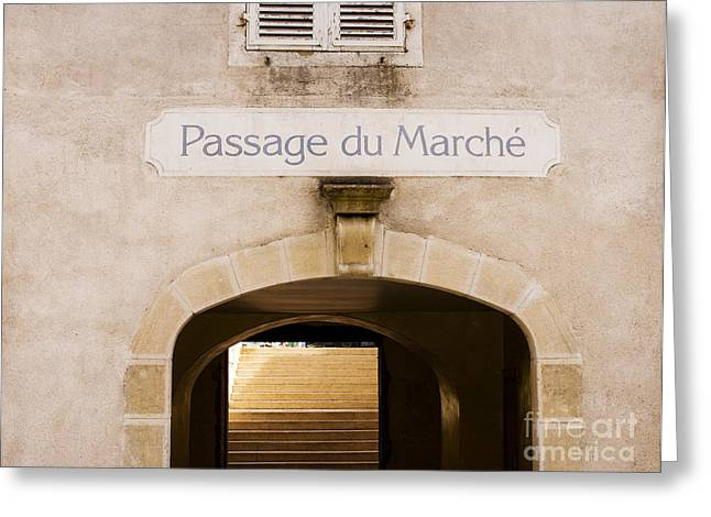 Alley Stairs Greeting Cards - Passage to the market Greeting Card by Patricia Hofmeester