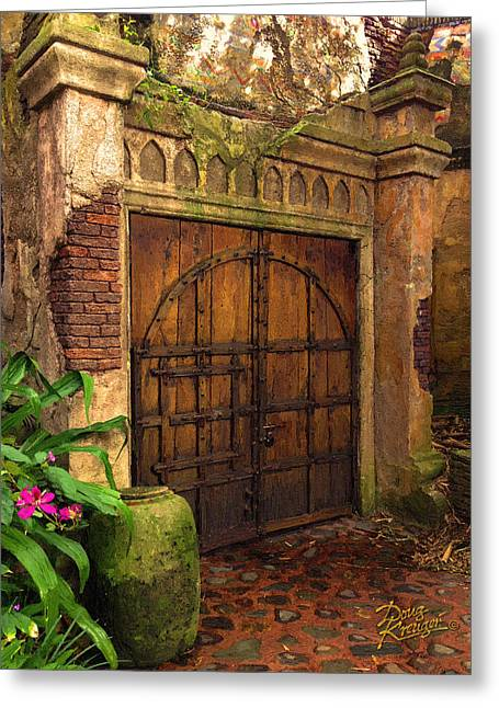 Doorway Digital Greeting Cards - Passage To The Past Greeting Card by Doug Kreuger