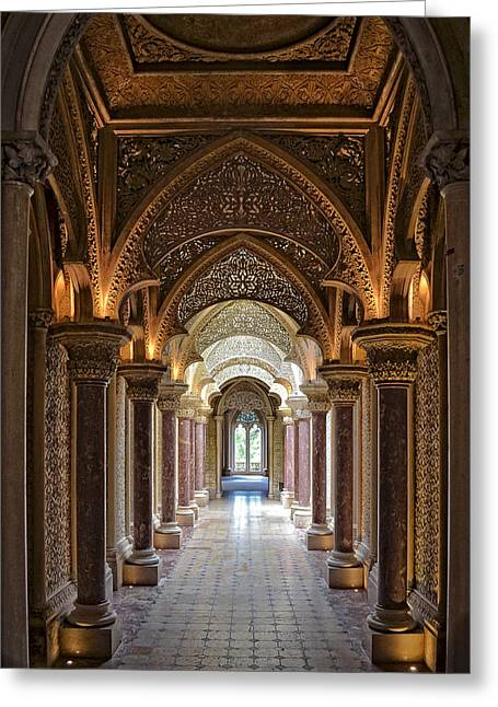 Francis Greeting Cards - Passage Way - Monserrate Palace Greeting Card by Mary Machare