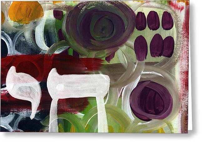 Lines Greeting Cards - Passages- Abstract Painting Greeting Card by Linda Woods