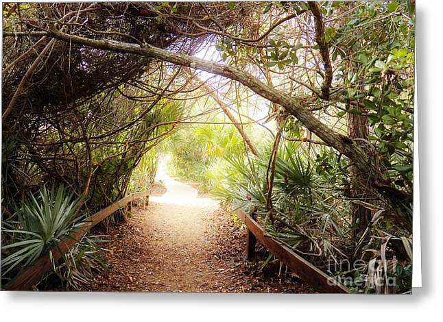 Passageway Greeting Card by Judy Via-Wolff