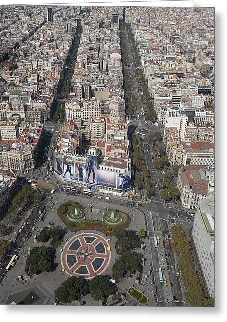 Catalunya Greeting Cards - Passeig De Gracia, Plaça Catalunya Greeting Card by Jordi Todó