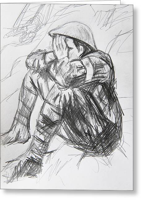 Ypres Greeting Cards - Passendale Sketch  Greeting Card by Paul Sutcliffe
