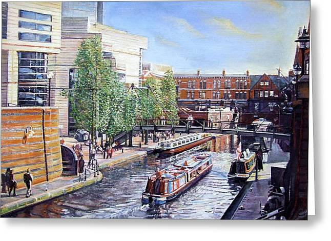 City Canal Greeting Cards - Passenger Cruise Oil On Canvas Greeting Card by Kevin Parrish
