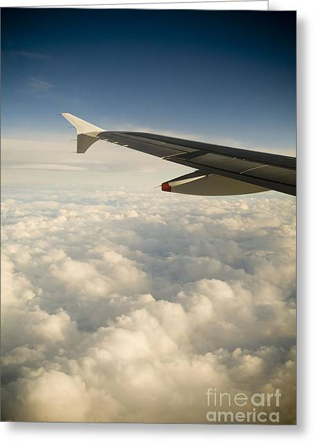 Passenger View Greeting Card by Tim Hester