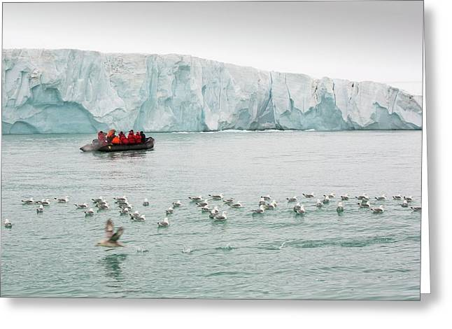 Passengers On Zodiaks Greeting Card by Ashley Cooper
