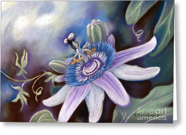 Passiflora Pastels Greeting Cards - Passiflora Greeting Card by Tatyana Bondareva