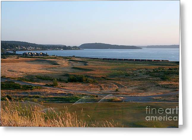 Steilacoom Greeting Cards - Passing Central Meadow Twilight Greeting Card by Chris Anderson