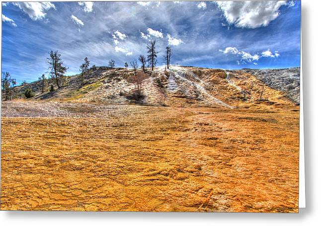 Yellowstone National Park Greeting Cards - Passing Clouds Greeting Card by Jeff Donald