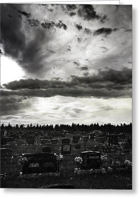 Grave Yard Greeting Cards - Passing Souls  Greeting Card by Jerry Cordeiro