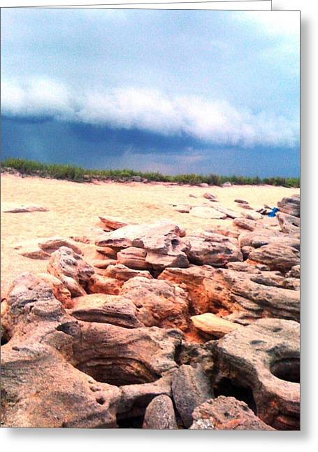 Passing Storm Greeting Card by Julie Wilcox