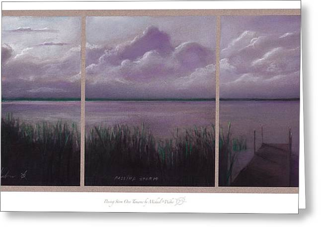 Wildlife Refuge. Pastels Greeting Cards - Passing Storm  Greeting Card by Michael  Weber
