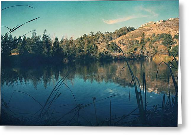 Lakes Digital Greeting Cards - Passing the Day Away Greeting Card by Laurie Search