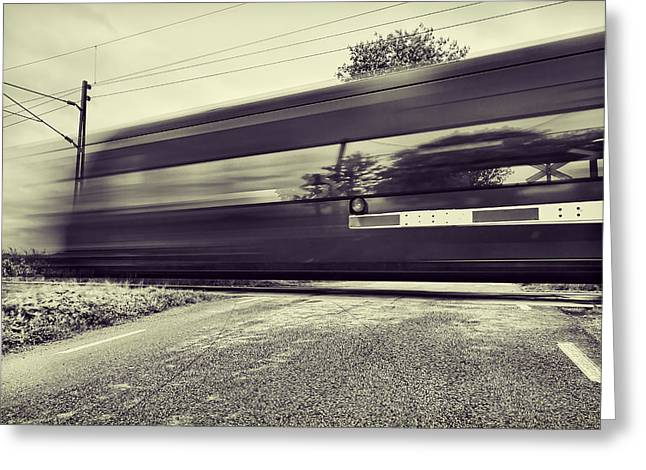 Road Greeting Cards - Passing Through Greeting Card by EXparte SE