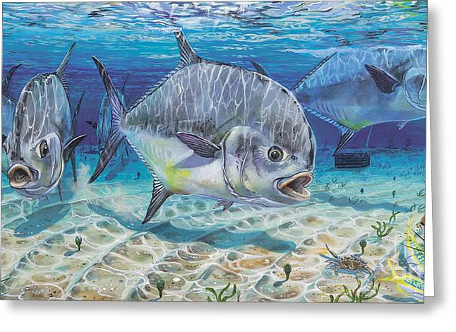 Bonefish Greeting Cards - Passing Through In009 Greeting Card by Carey Chen