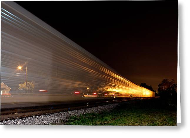La Grange Greeting Cards - Passing Train Greeting Card by Chris Fender