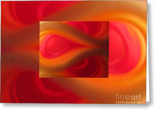 Empower Greeting Cards - Passion Abstract 02 Greeting Card by Ausra Paulauskaite