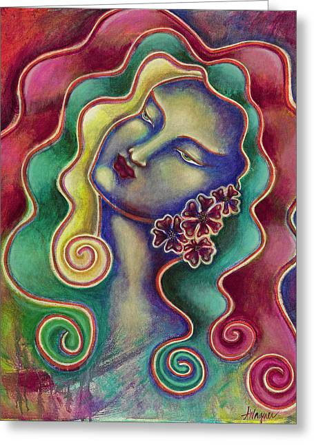 Visionary Artist Greeting Cards - Passion Greeting Card by Annette Wagner