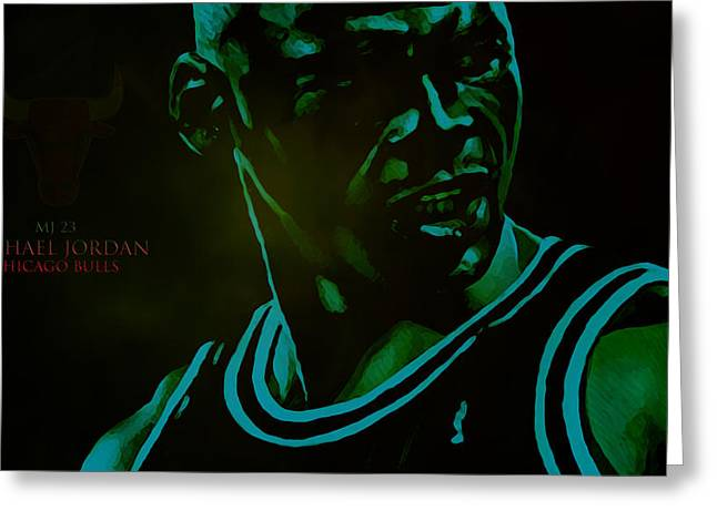 Michael Jordan Greeting Cards - Passion Greeting Card by Brian Reaves