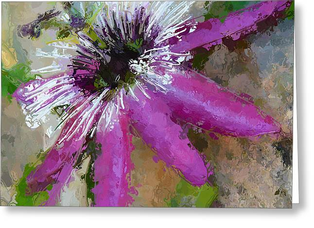 Artography Greeting Cards - Passion Flower Greeting Card by Amanda  Lakey