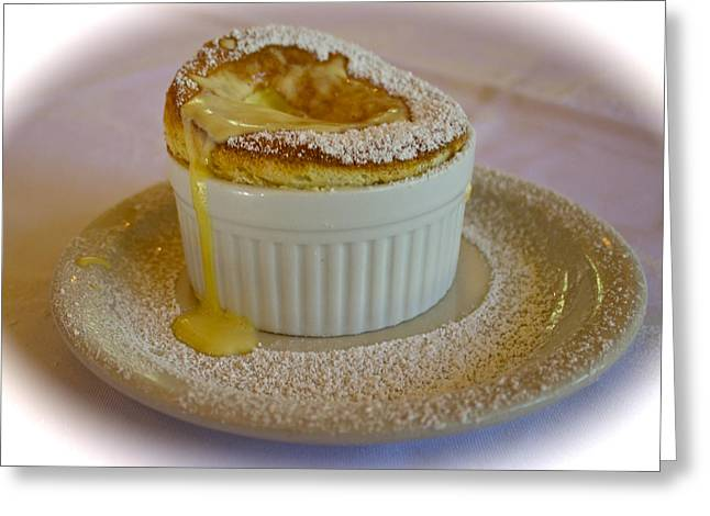 Passion Fruit Souffle Greeting Card by Venetia Featherstone-Witty