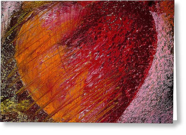 Valentines Day Pastels Greeting Cards - Passion Heart Greeting Card by David Patterson