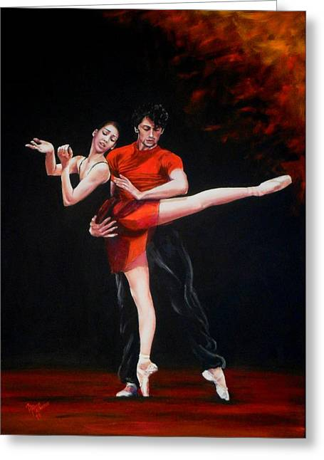 Passion In Red Greeting Card by Maren Jeskanen