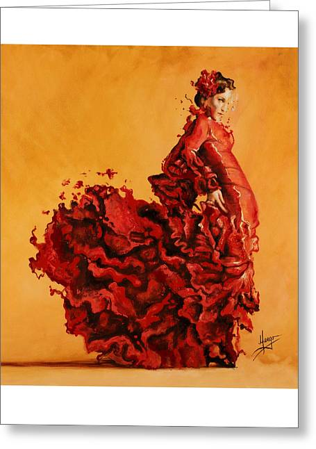 Passion Greeting Card by Karina Llergo