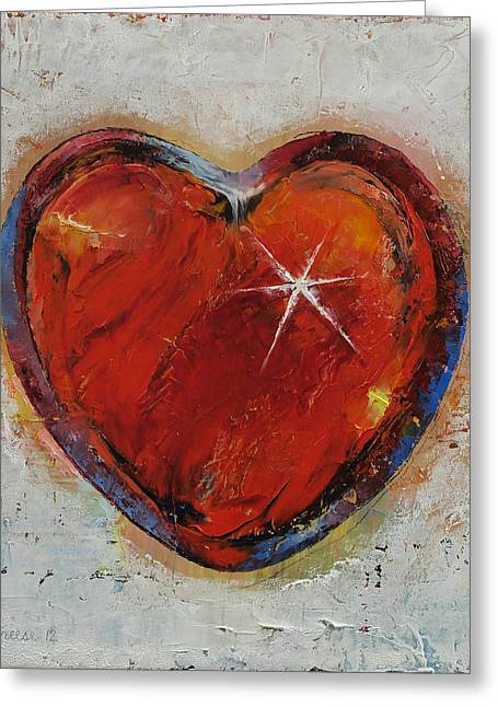 Amour Greeting Cards - Passion Greeting Card by Michael Creese