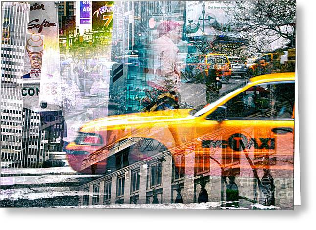 Cityscape Greeting Cards - Passion NYC Around Bryant Park Greeting Card by Sabine Jacobs