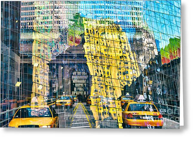 Cities Greeting Cards - Passion NYC Yellow Cab Greeting Card by Sabine Jacobs