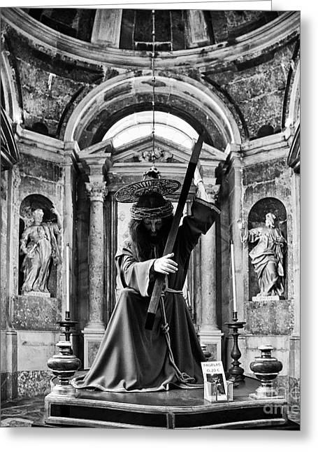 Purple Robe Photographs Greeting Cards - Passion of Christ Greeting Card by Jose Elias - Sofia Pereira