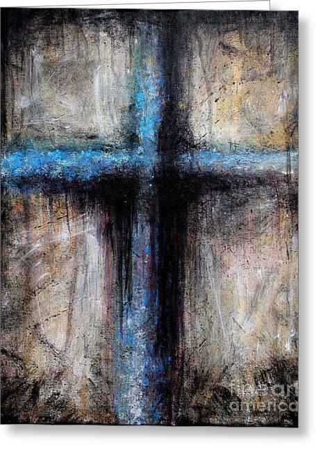 Sacred Religious Art Greeting Cards - Passion of the Cross Greeting Card by Mike Grubb