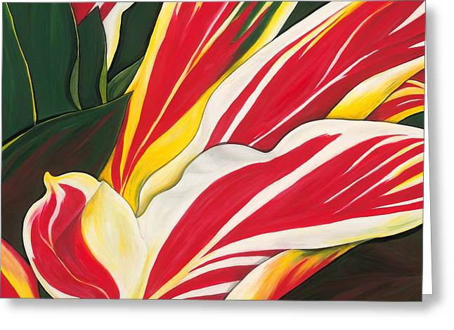 Lisa Bentley Greeting Cards - Passion Painting Greeting Card by Lisa Bentley