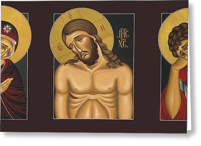 Harts Paintings Greeting Cards - Passion Triptych Greeting Card by William Hart McNichols
