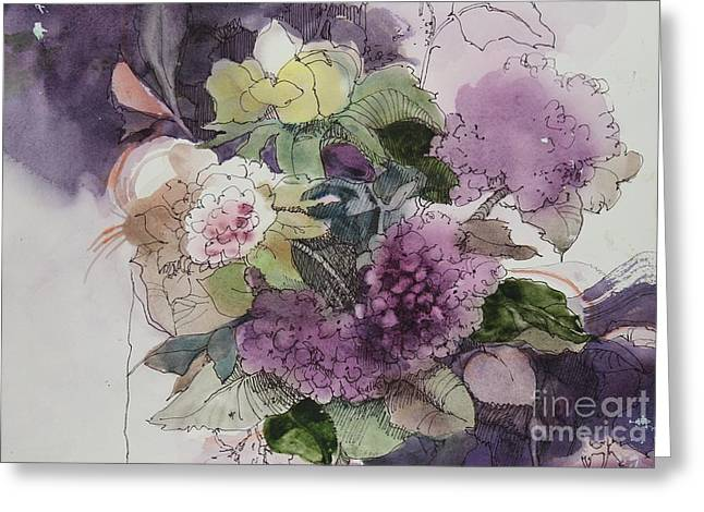 Passionate About Purple Greeting Card by Elizabeth Carr