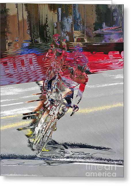 Tour Of The Gila Greeting Cards - Passionate for Speed Greeting Card by Vicki Pelham