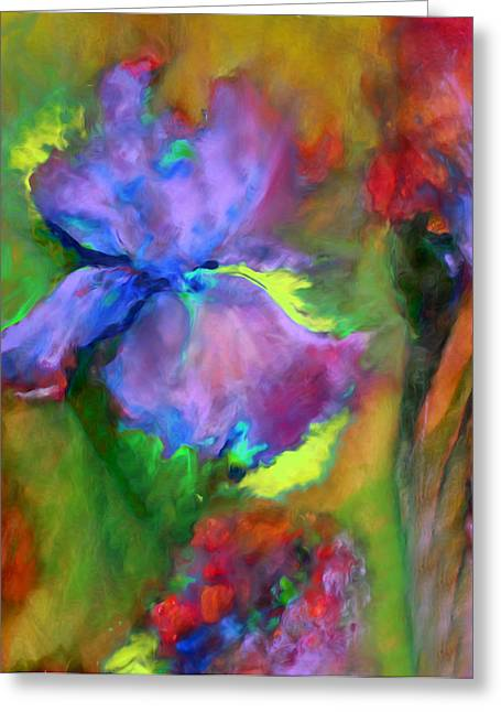 Romanovna Greeting Cards - Passionate Garden - Abstract Greeting Card by Georgiana Romanovna